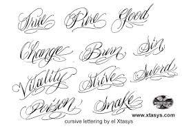 script tattoo lettering letters font