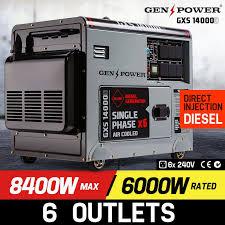 8 400w single phase diesel generator gxs14000d genpower