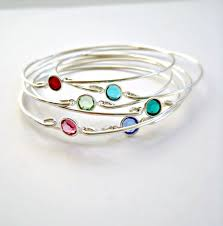 mothers bracelets birthstone bracelets bangle bridesmaid jewelry sterling silver