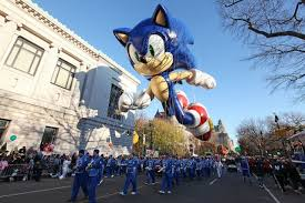 sonic taking part in the 2012 macy s thanksgiving day parade