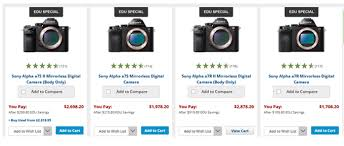sony a6000 black friday deals sony a7 deals cheapest price mirrorless deal