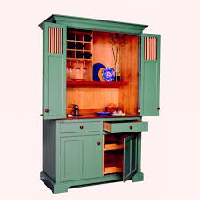 Bar Hutch Cabinet Dry Bar Armoire Deep Ocean Green From Yestertec