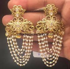 25 earring gold jewellery designs ideas on gold