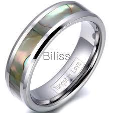 cincin tungsten carbide tungsten cincin abalone beli murah tungsten cincin abalone lots