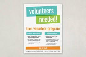 bright bold volunteer flyer template inkd