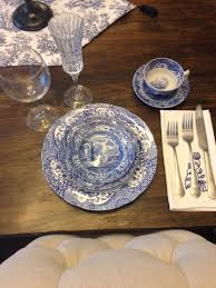 Dining Room Table Setting Dishes Spode Blue Italian Place Setting Home Pinterest Dining