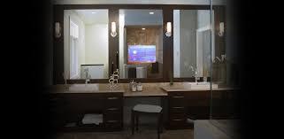 tv in a mirror bathroom bathroom tv in mirror bathroom hidden entertainment seura