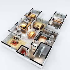 more bedroom d floor plans ideas house design 3d 3 bedrooms