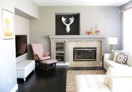 interior decorating family room rectangle shape tv above electric