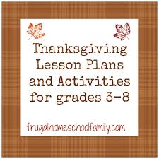 thanksgiving lesson plans for grades 3 8