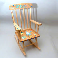 customized natural wood rocking chair picture 1 4