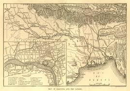 Calcutta India Map by Gazetteer And Maps
