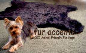 Faux Fur Sheepskin Rug Amazon Com Fur Accents Faux Fur Bear Skin Accent Rug Black Shag