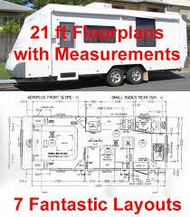 Caravan Floor Plans Rv247 Caravan Rv Marine 7 Floor Plans With Measurements For A 21