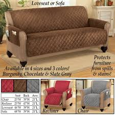 Quilted Recliner Covers Micro Fleece Quilted Furniture Cover Protector From Collections Etc