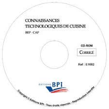 bep cuisine connaissances technologiques de cuisine bep cap cd cahier d