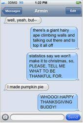 happy thanksgiving text messages