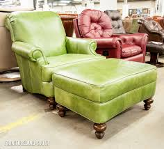 Clayton Marcus Sofa by Clayton Marcus Rowe Lime Green Leather Arm Chair And Ottoman Set