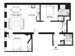 2 bedroom apartment floor plan house design and plans