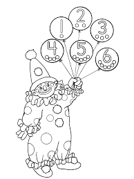 clown coloring pages farsang carnaval free