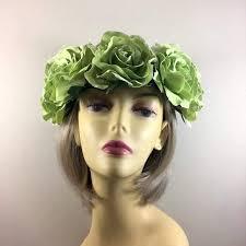 hair fascinators green flower crown hair garland flower garlands hair crowns uk