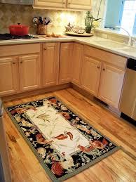 kitchen under kitchen table mat rug in front of refrigerator