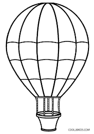 drawn basket air balloon pencil and in color drawn basket
