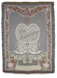 personalized anniversary gifts personalized anniversary gift throw blanket