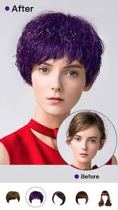 hair style photo booth insta hair style salon try on wig face makeup recolor booth
