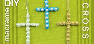 beads with cross bracelet images How to make a easy macrame cross with beads jewelry wonderhowto jpg