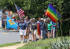 Deleware Flag Newark Marchers Advocate For Lgbt Equality News