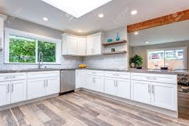 gray kitchen countertops with white cabinets open concept kitchen with white cabinets grey quartz countertops