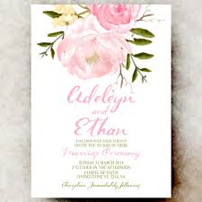 wedding invitations printable pink floral wedding invitation cottage chic wedding invitation