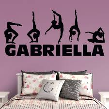 wall decals personalized family last name monogram personalized by gymnastics personalized name wall decal fathead for wall art decor