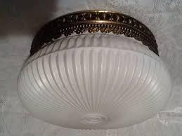 1940s kitchen light fixtures vintage ceiling light fixture 1930s 1940s very unique white shade