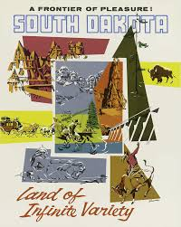 South Dakota how to travel images Clipart vintage travel poster south dakota usa png