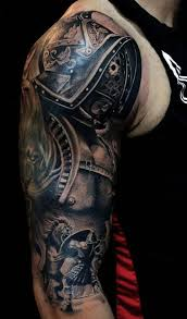 tattoo of ancient gladiator fighting lion tattoo tattooimages
