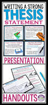 Thesis Sentences Best 10 Thesis Statement Ideas On Pinterest Writing A Thesis