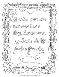 coloring pages for kids by mr adron john 15 13 greater love has