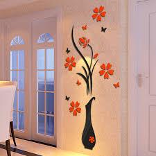 Plum Home Decor by Aliexpress Com Buy 3d Plum Vase Wall Stickers Home Decor