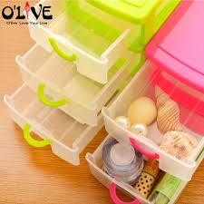 Desk Storage Containers Aliexpress Com Buy 3 Layer Drawer Organizer Desk Plastic Storage