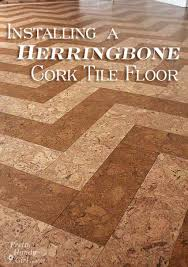 Cork Flooring In Kitchen by Omg The Most Awesome Herringbone Cork Floors Ever Done By The