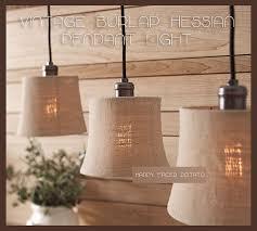 Pottery Barn Chandelier Shades Burlap Hessian Cloth Pendant Light Chandelier Lamp Shade Edison