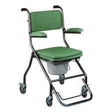 siege garde robe chaise percée pliante à roulettes vilgo gr192 chaise de toilette