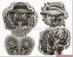 amazing grey ink gangsta tattoos design tattoo viewer com