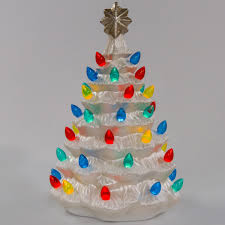 ceramic christmas tree with lights cracker barrel light up nostalgic ceramic christmas tree christmas traditional