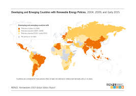 Global Wind Map Renewables 2015 Global Status Report