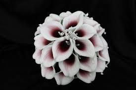 picasso calla purple calla wedding bouquet detail wedding design