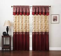 Antique Satin Valances by Embroidered Curtains Drapes U0026 Valances With Sheer Fabric Ebay