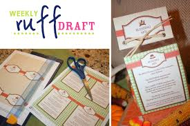 thanksgiving custom guest ruff draft thanksgiving blessing mix favors u0026 free